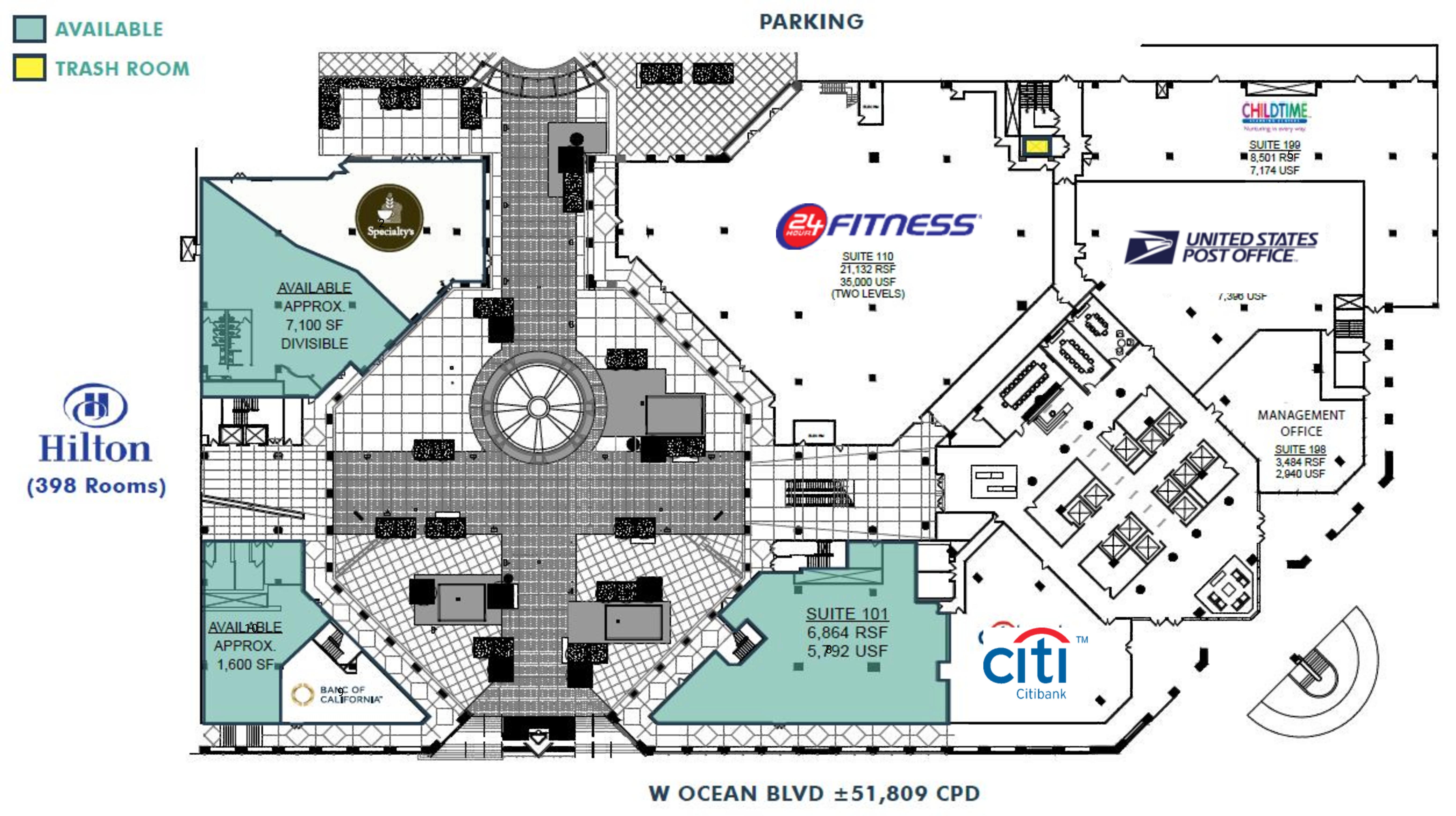 One World Trade Center- Long Beach: site plan