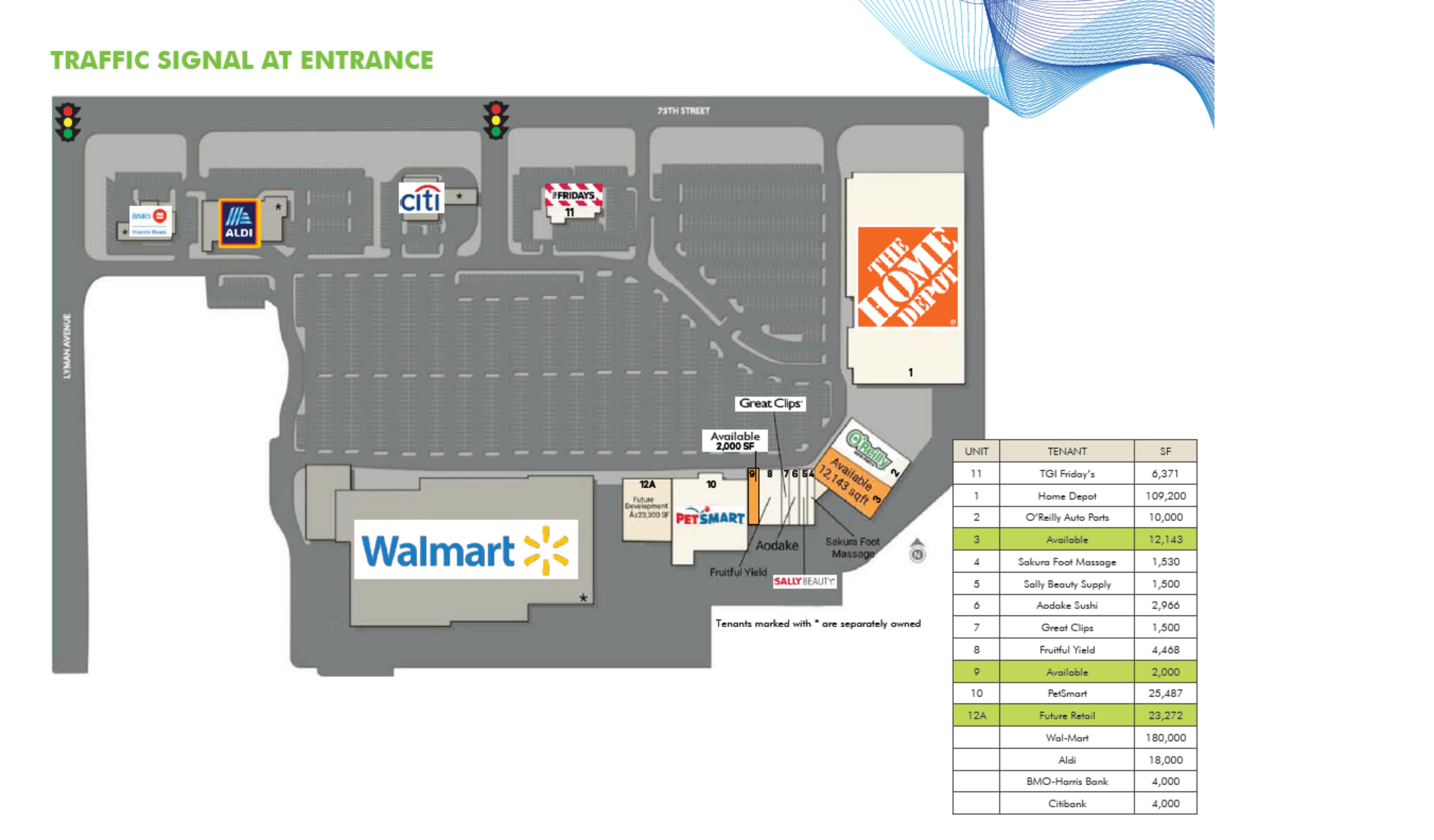 Darien Towne Center: site plan