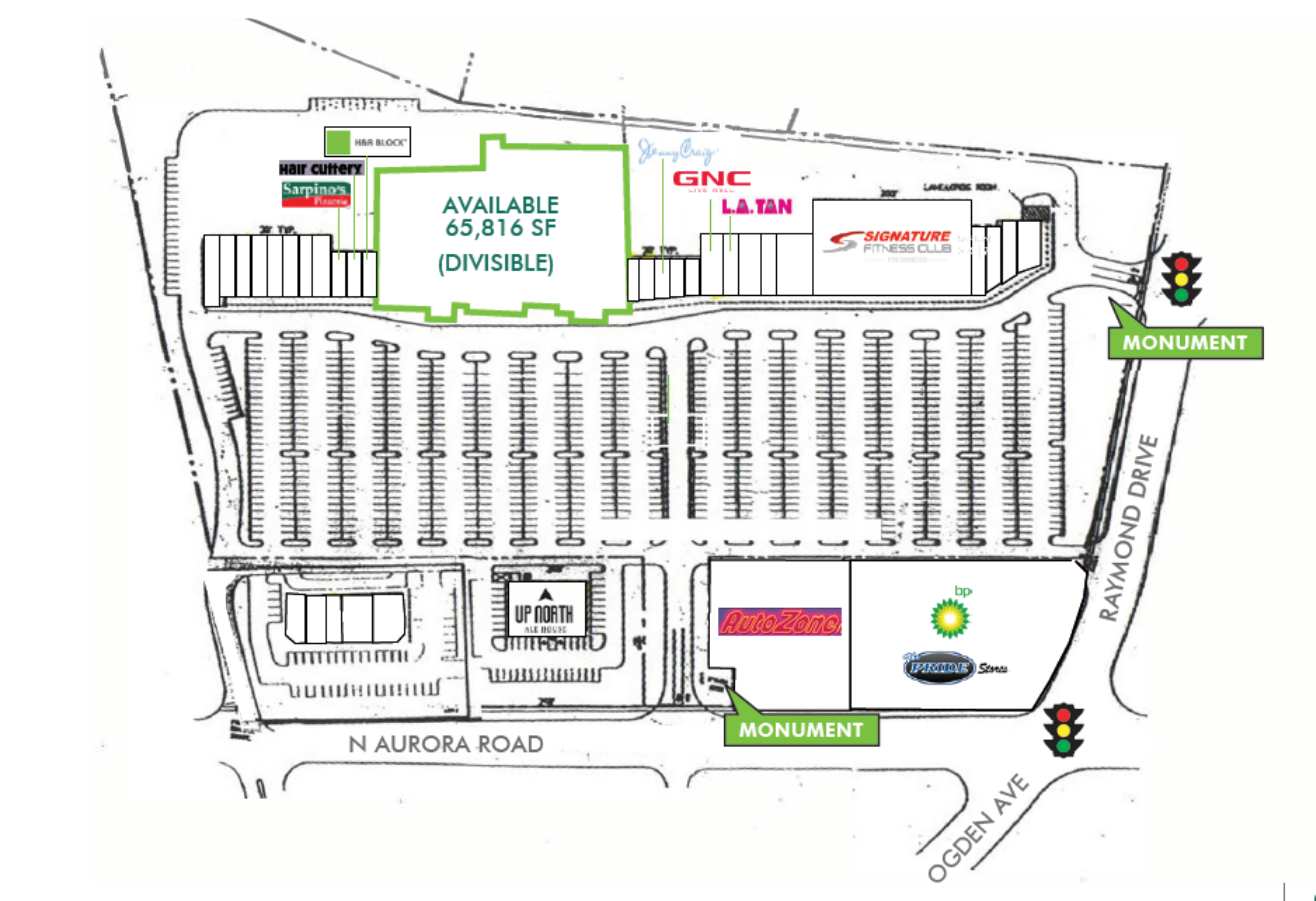 Riverbrook Shopping Center: site plan