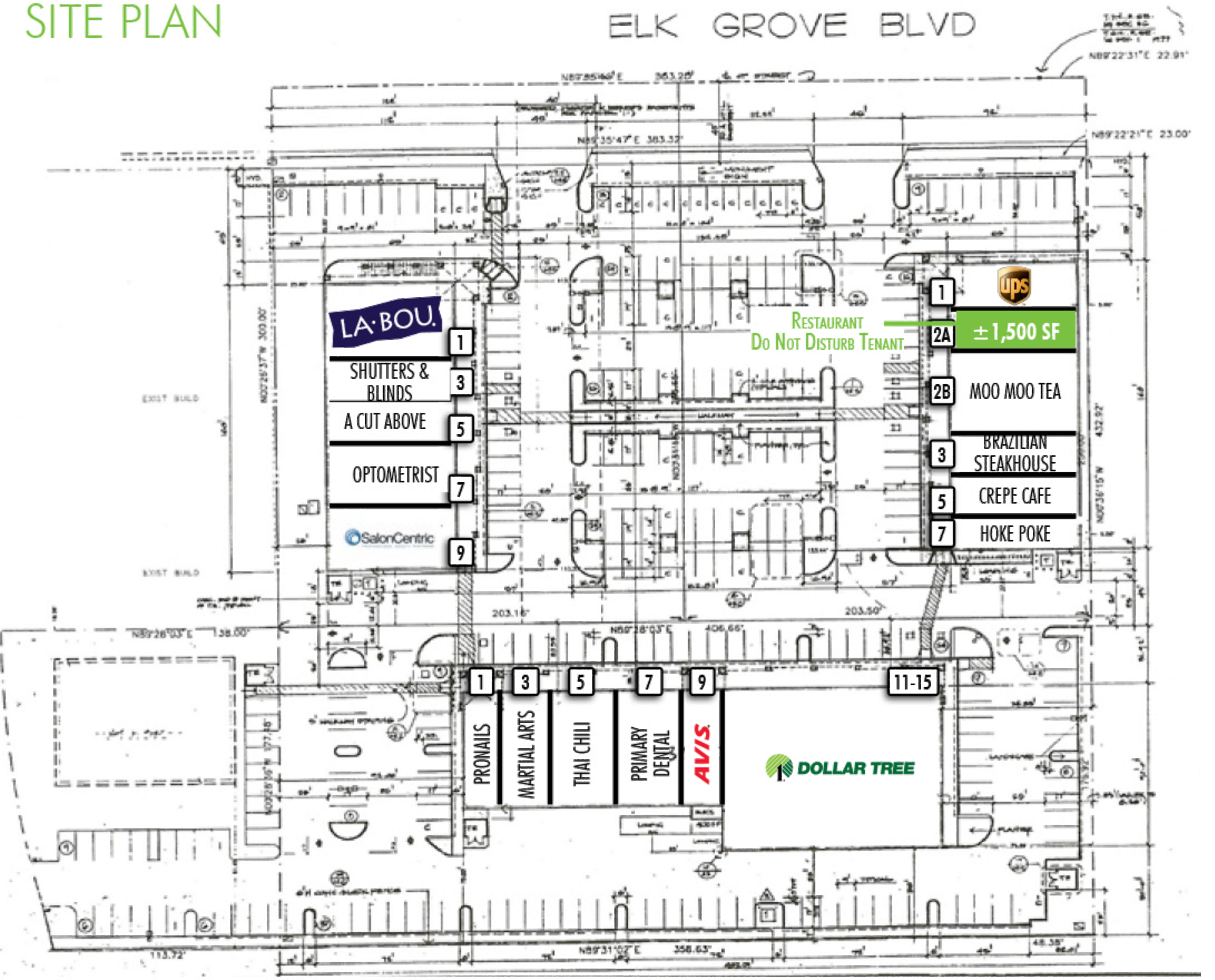 The Crossing: site plan