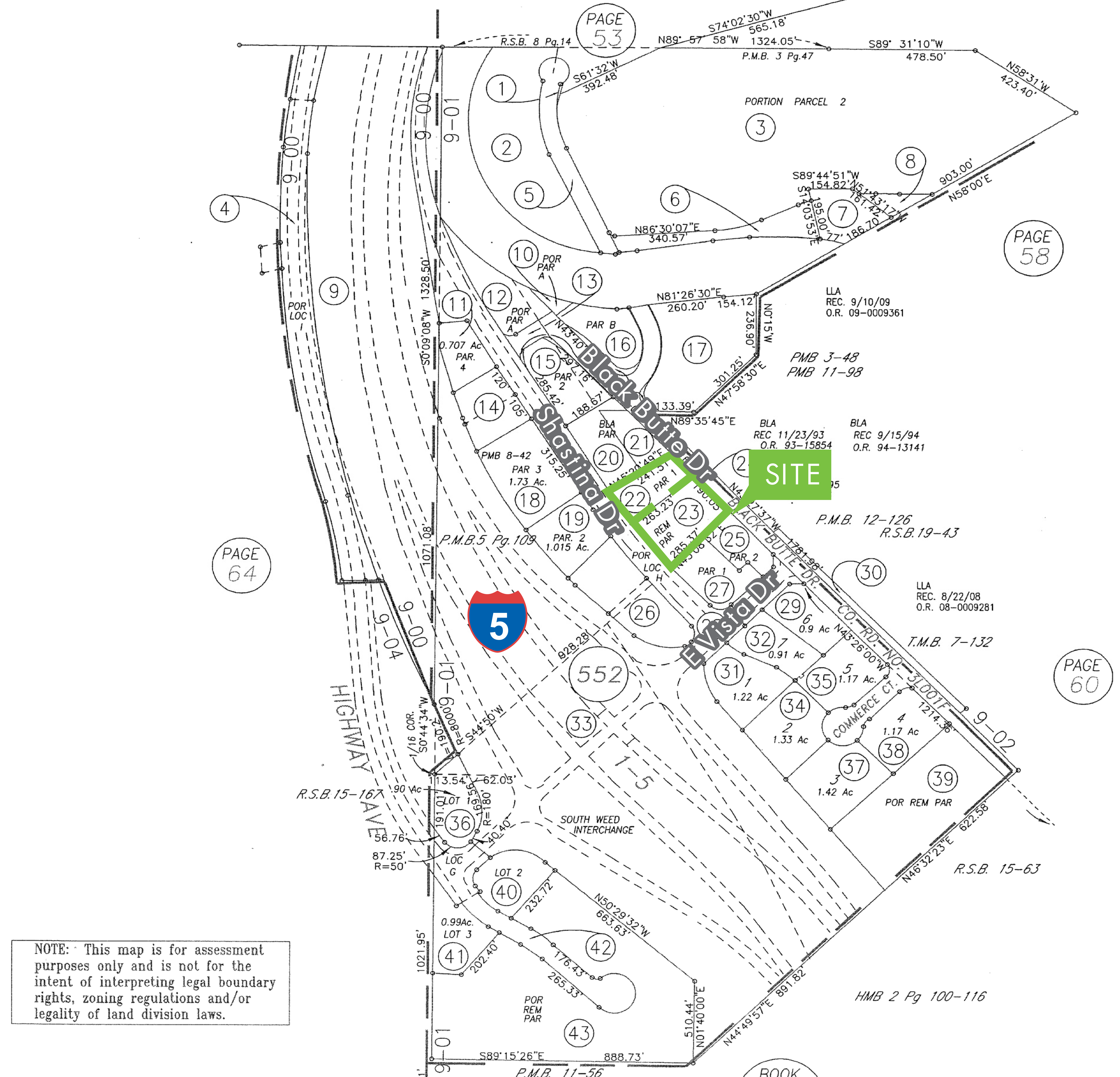 Highway Commercial Land - 1886 Shastina Drive: site plan