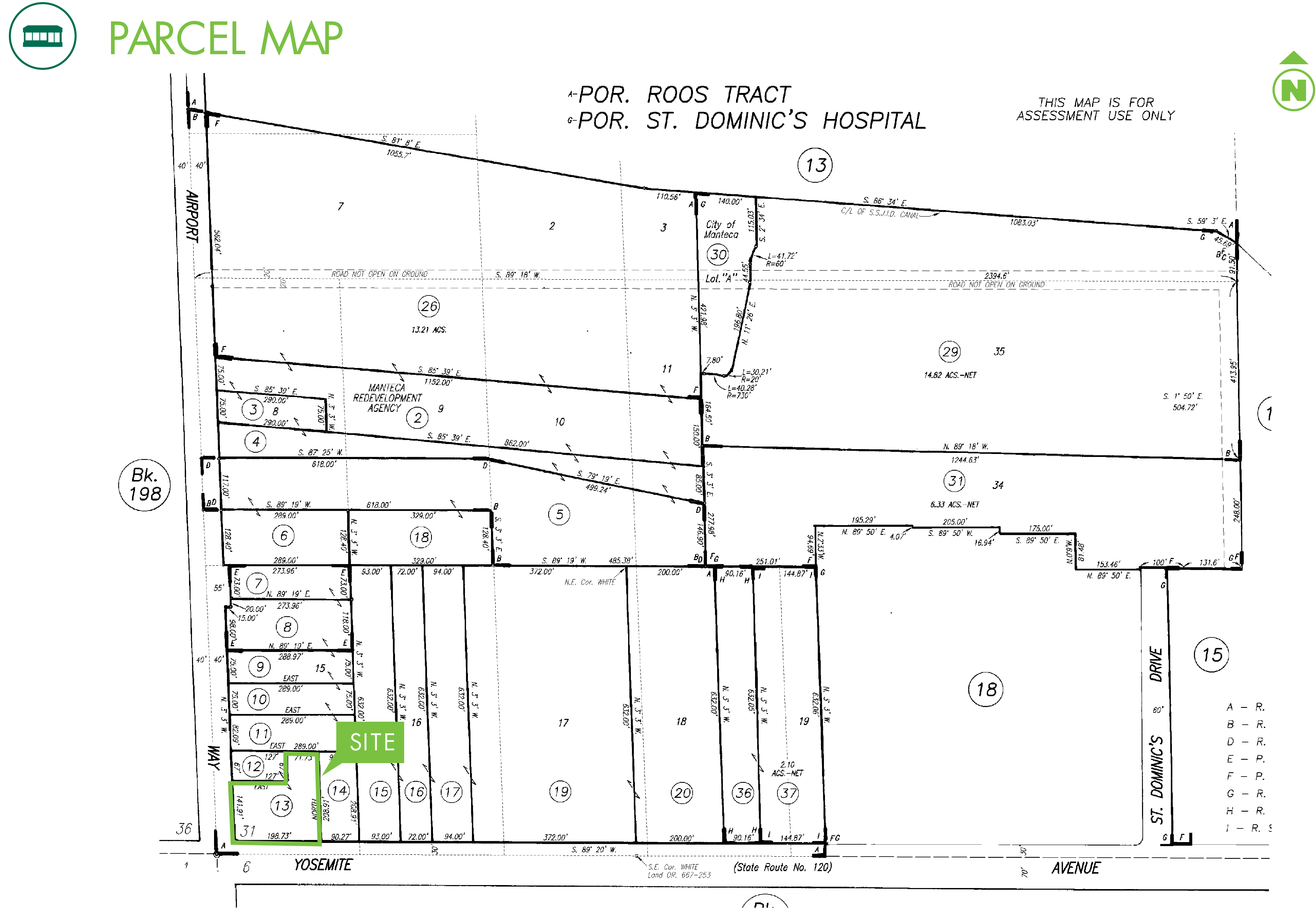 Commercial Land - 2077 Yosemite Ave: site plan