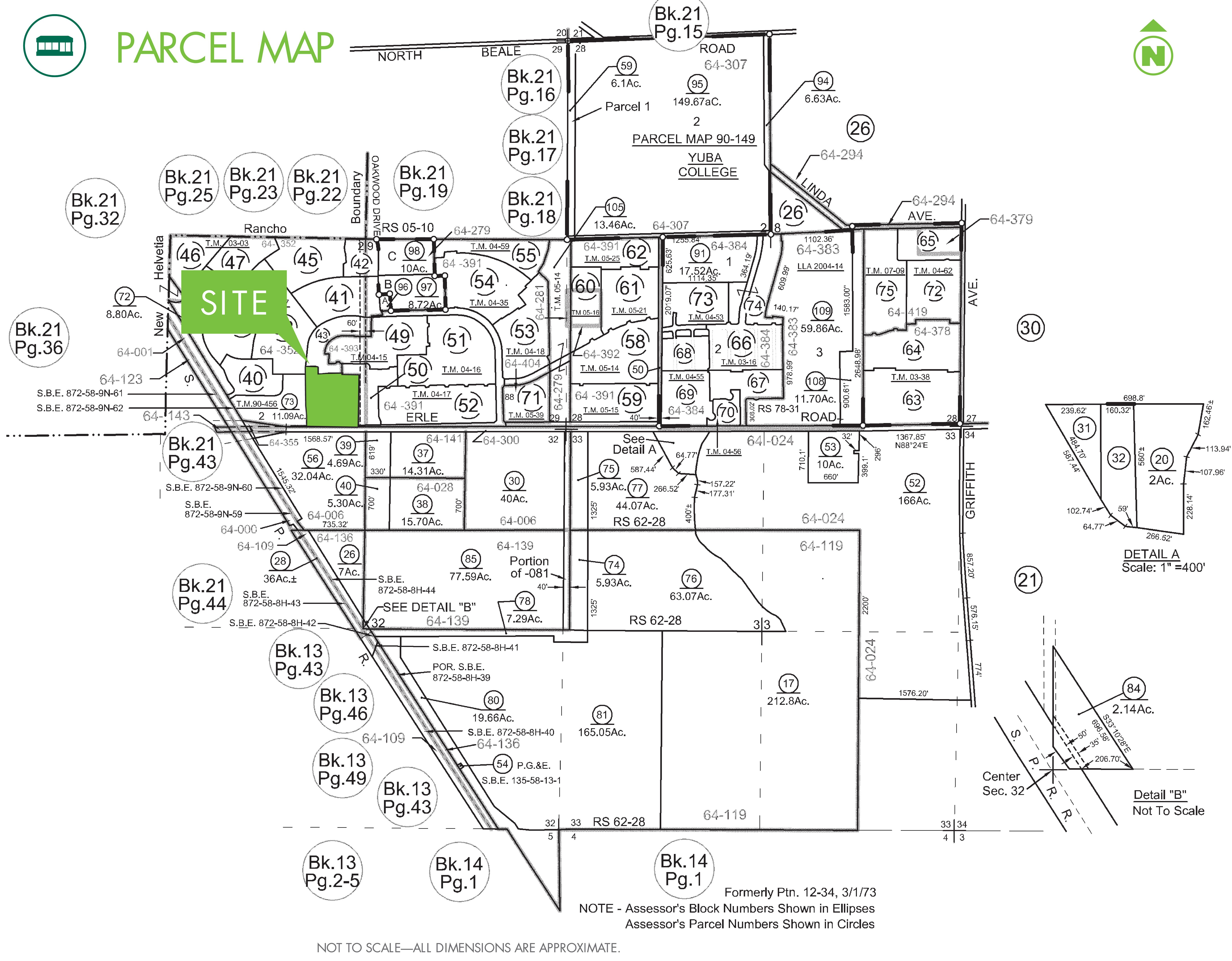 Erle Road & Edgewater Circle: site plan