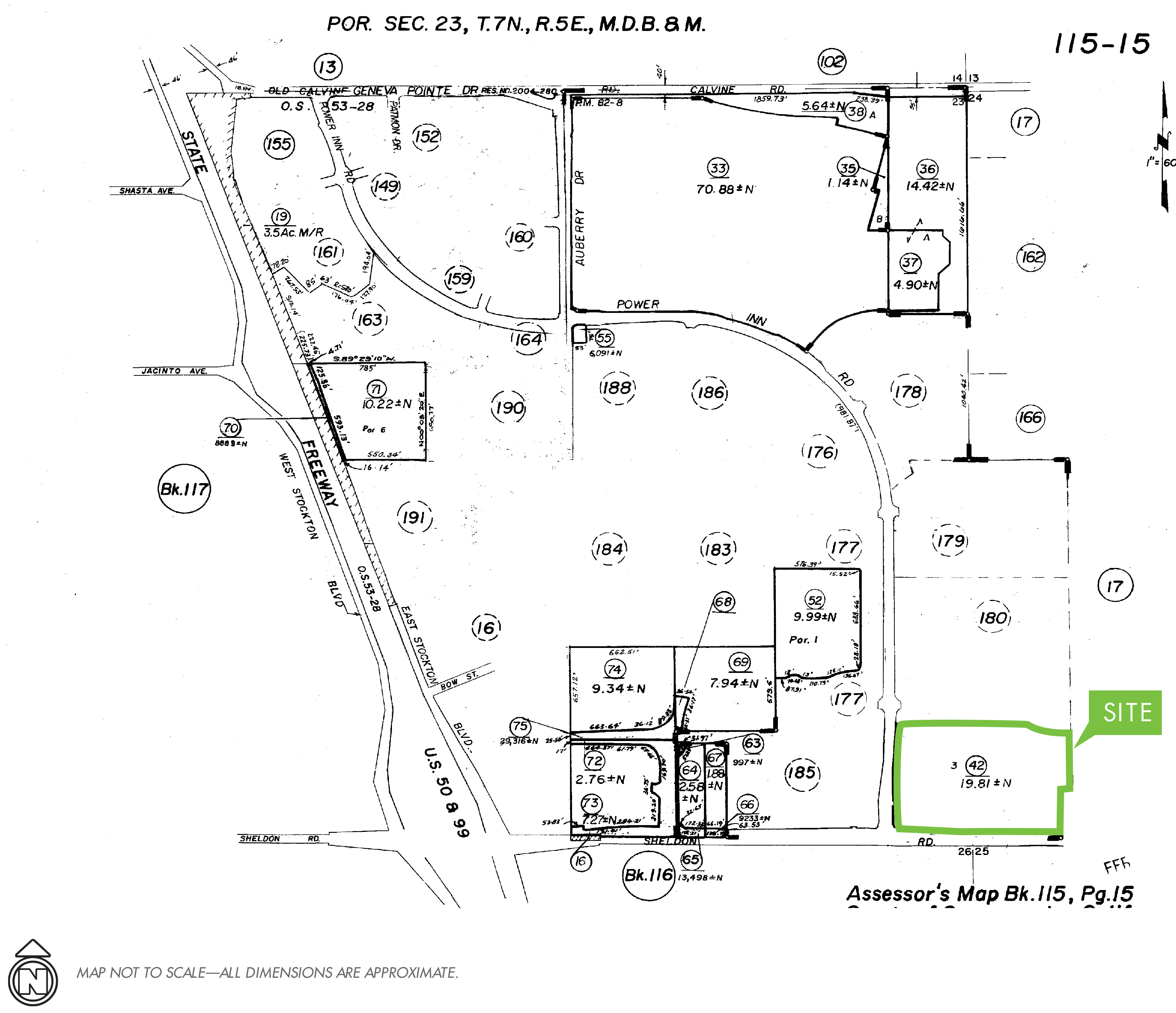 Commercial Land - Sheldon & Power Inn: site plan