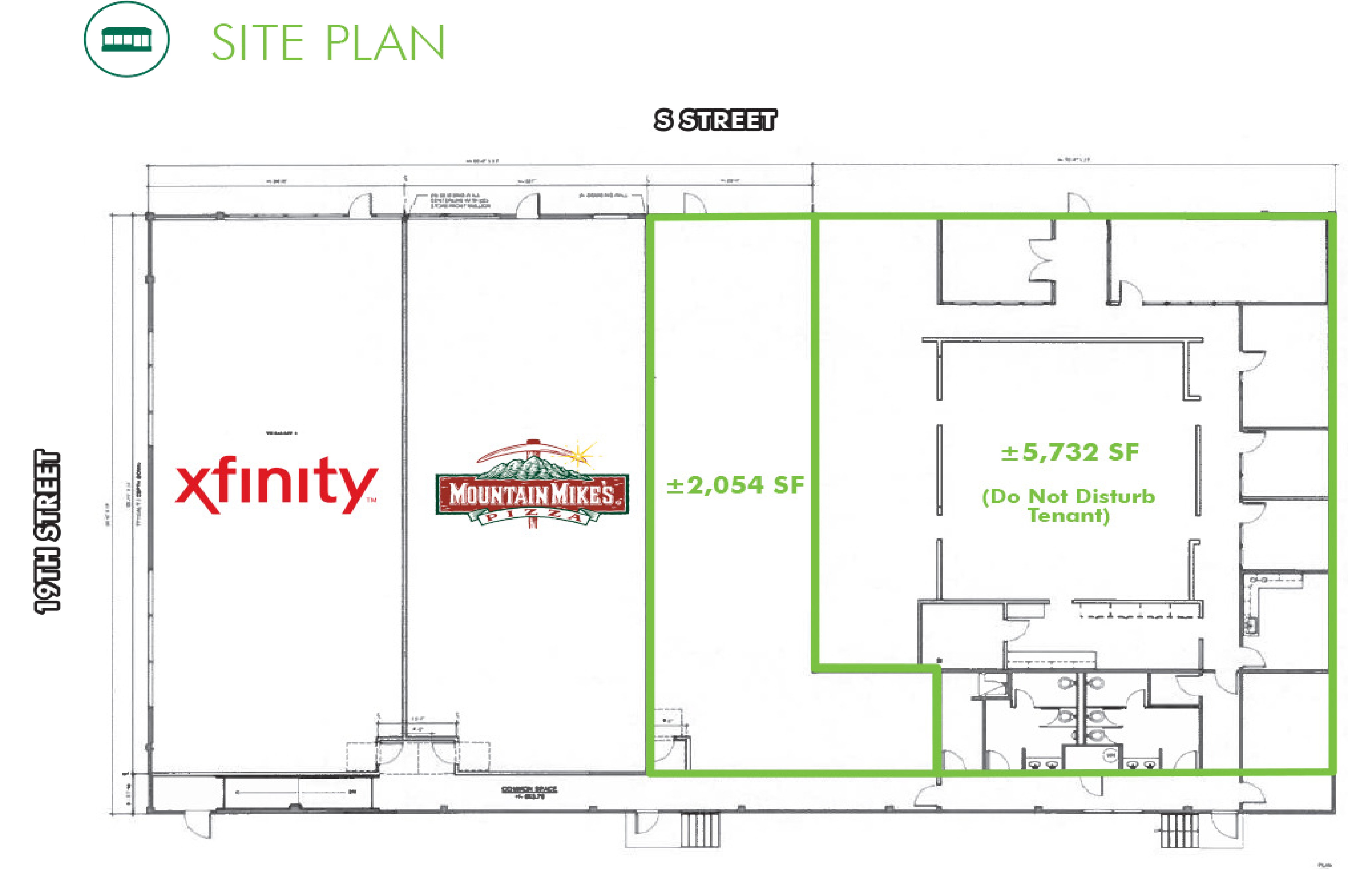 Redeveloped Midtown Building: site plan