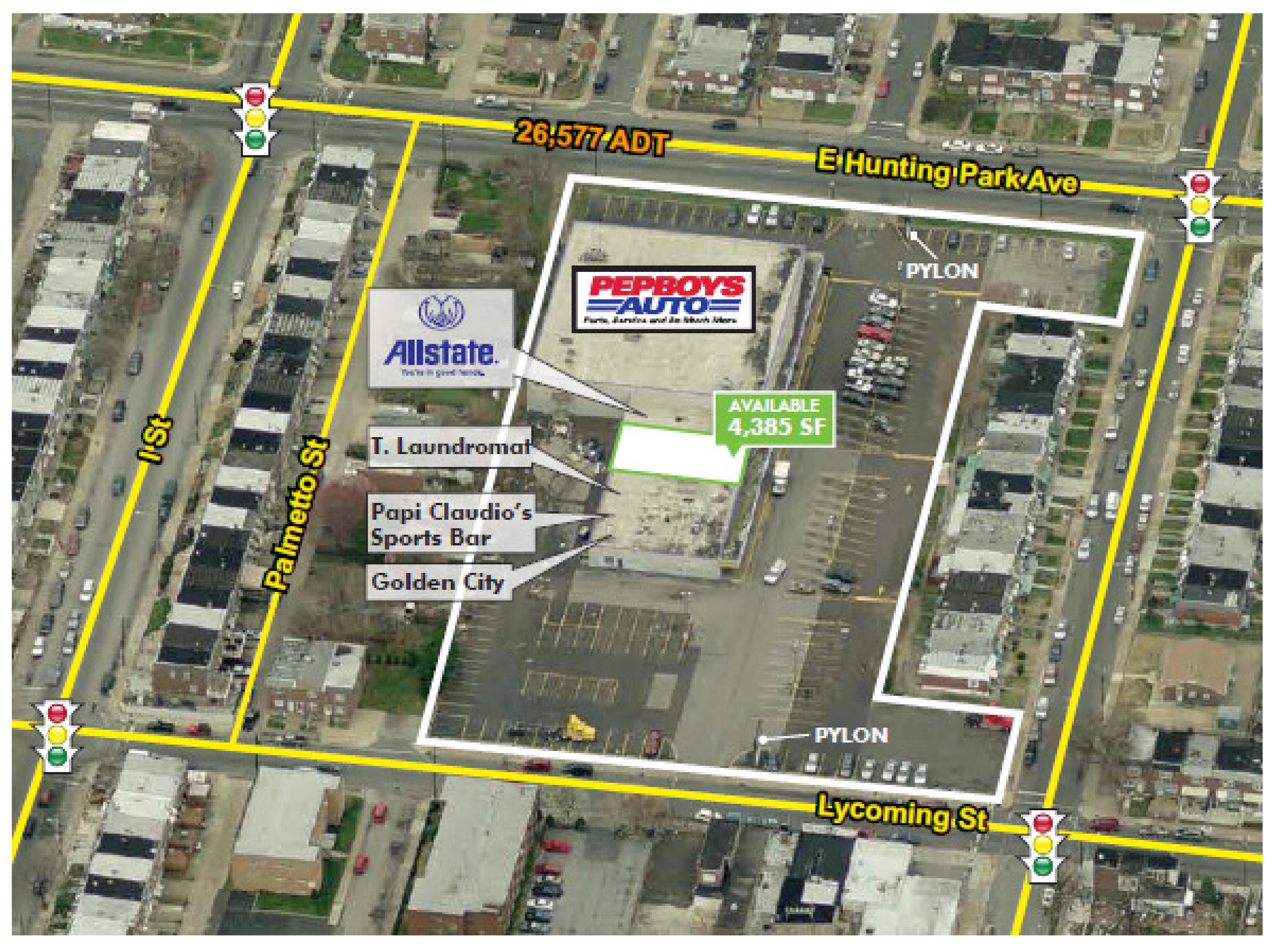 1050 East Hunting Park Avenue: site plan