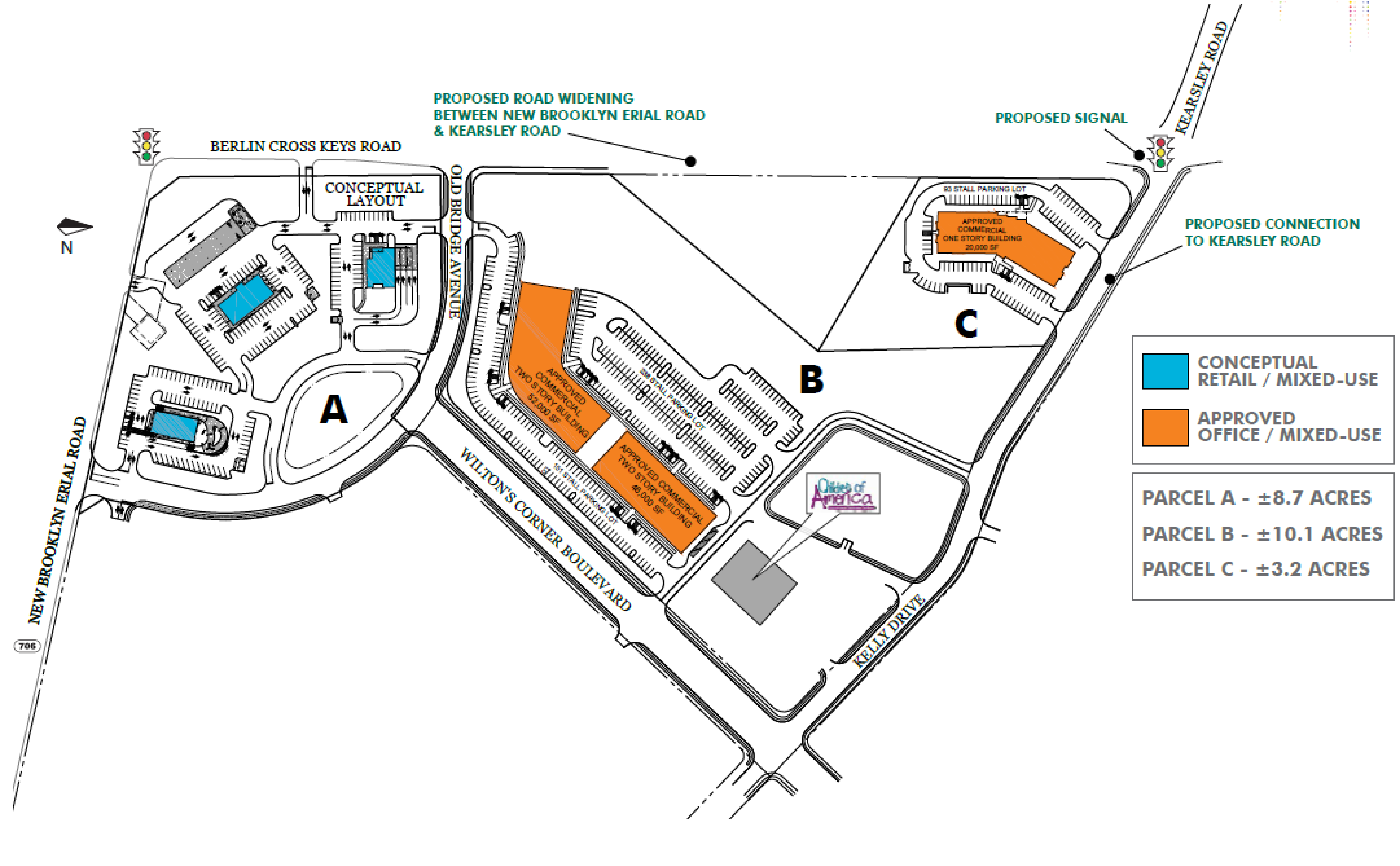 Wilton's Corner Town Center: site plan