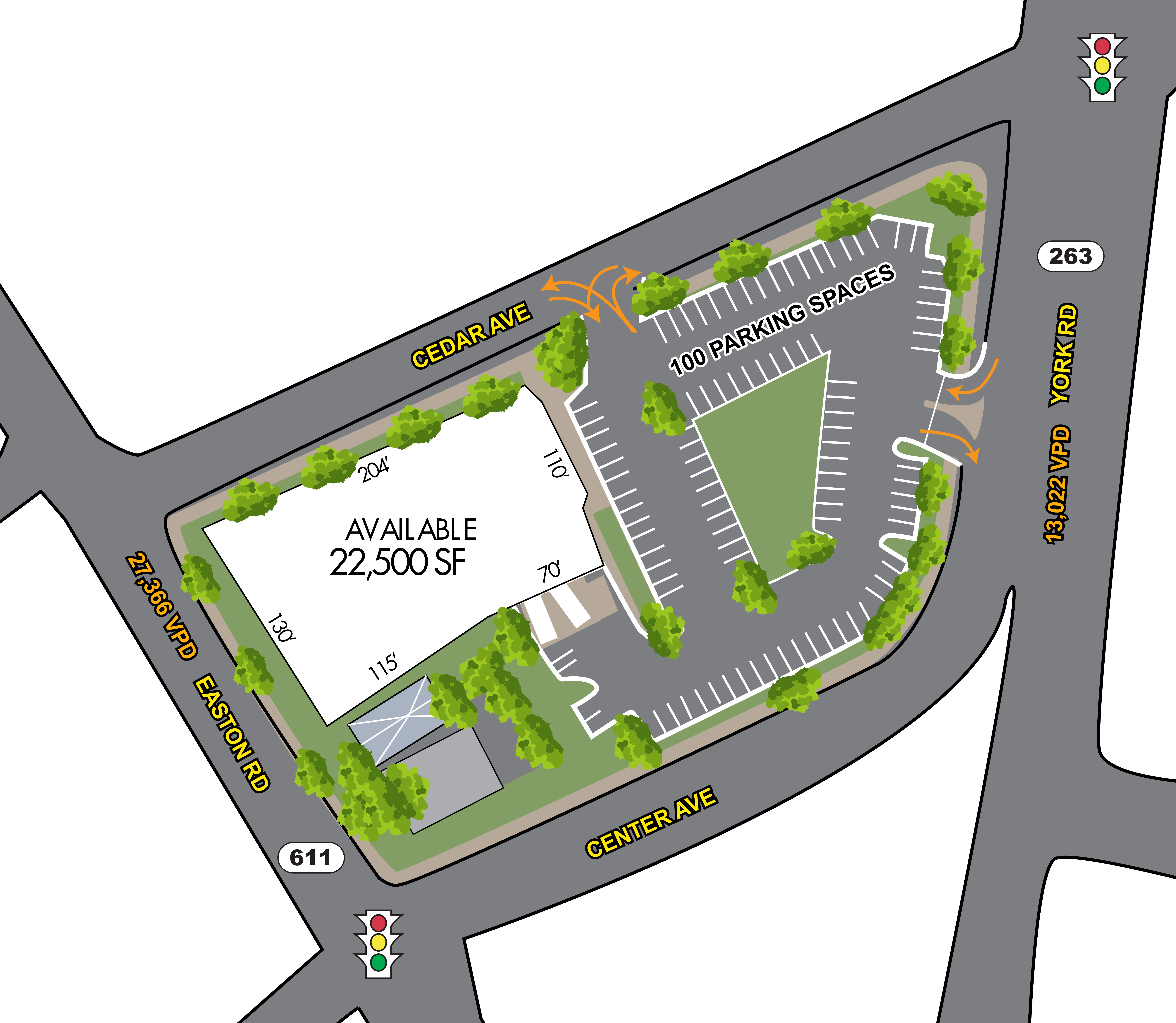 Willow Grove, PA - Freestanding Retail Building: site plan