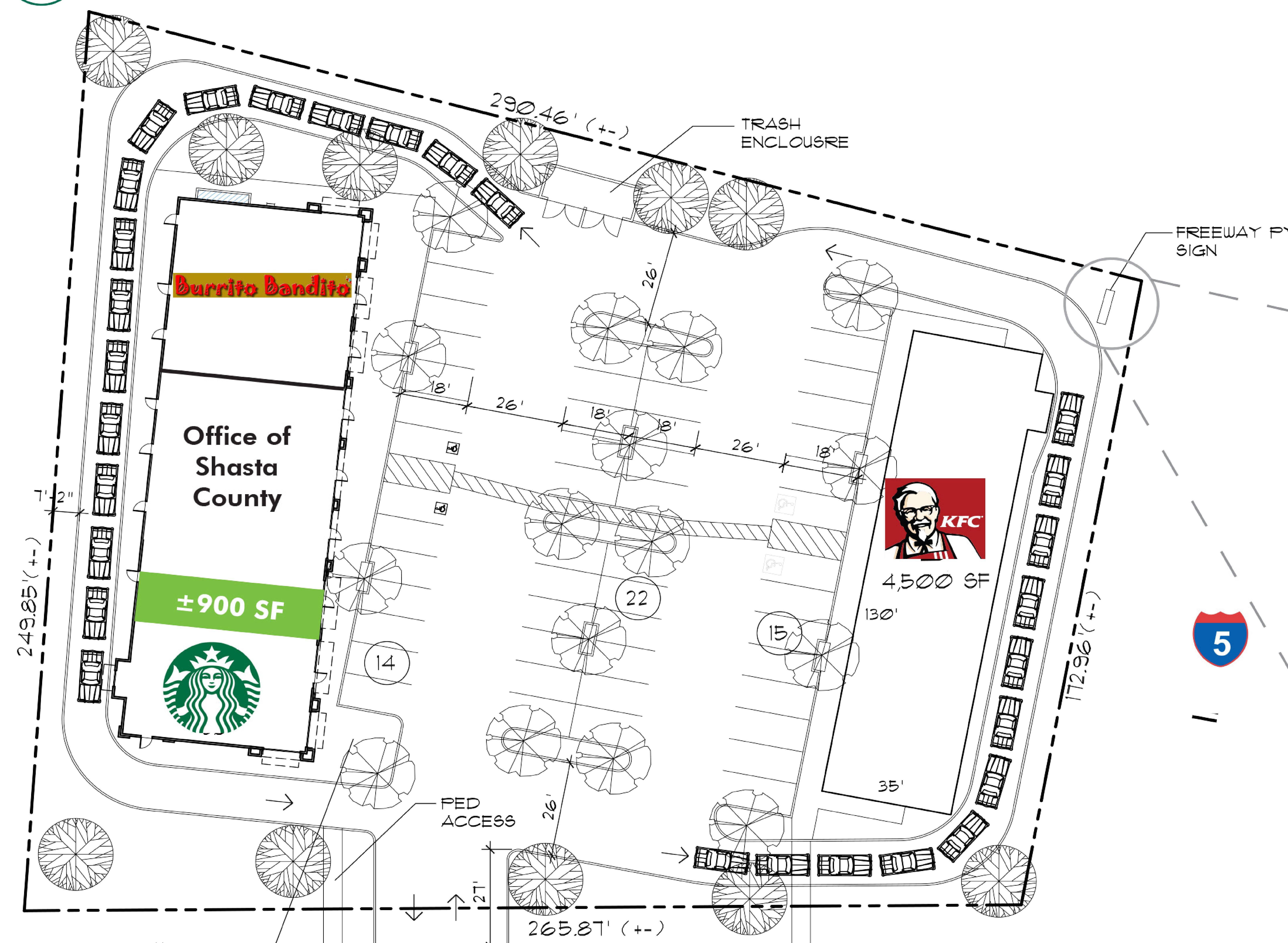 Red Bluff Plaza: site plan