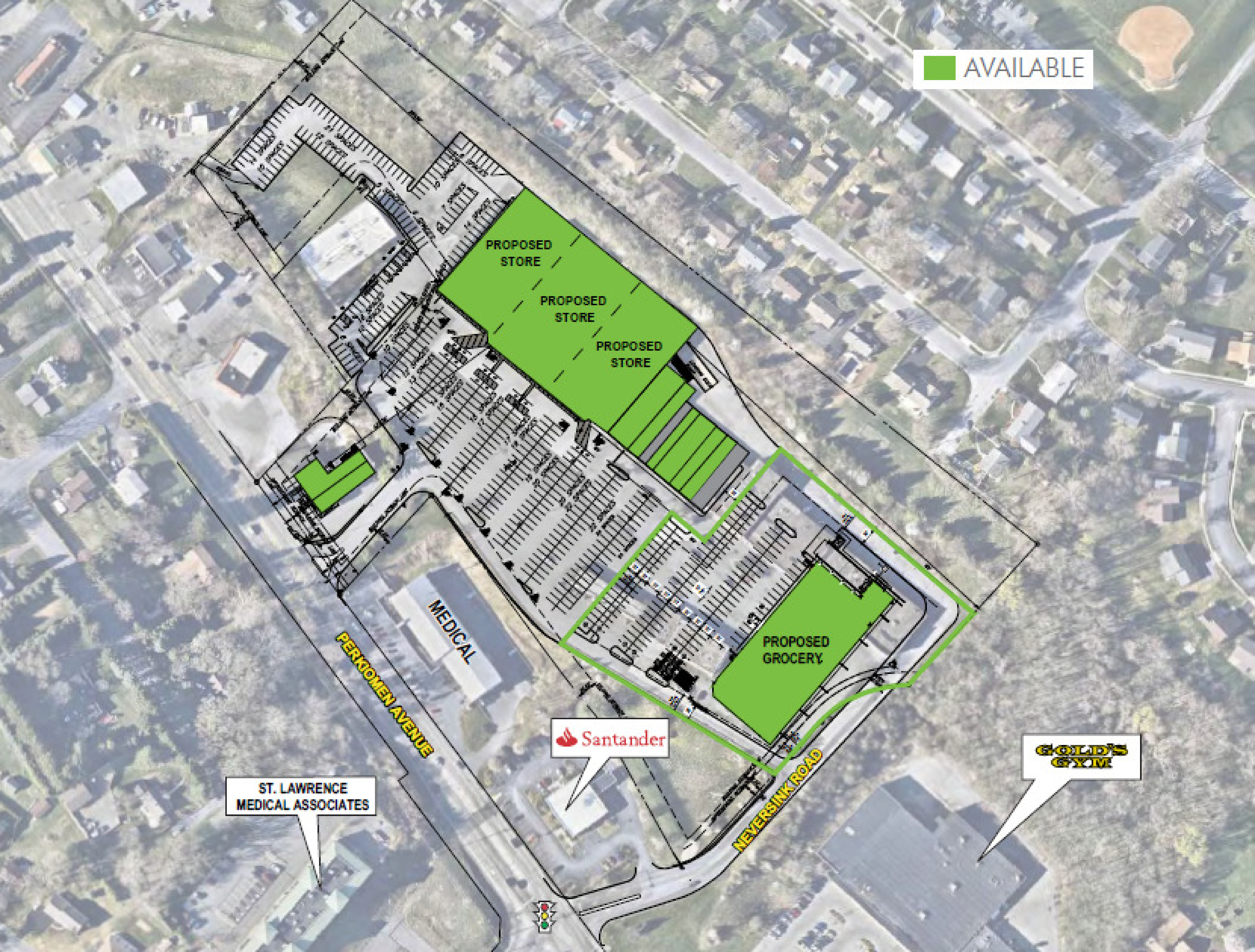 Reading/Exeter Shopping Center Redevelopment: site plan