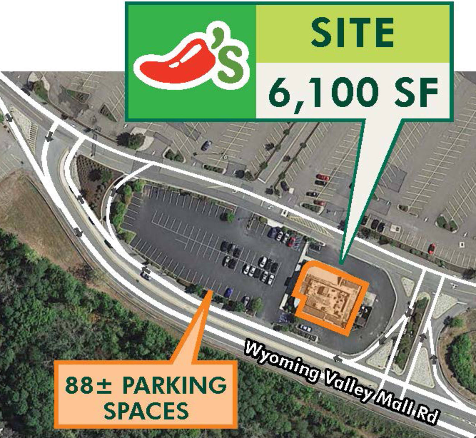 CBRE Retail6,100 SF Restaurant Pad Build-Out in Wilkes-Barre Twp, PA - 375 Wyoming Valley Mall Rd 375 Wyoming Valley Mall Rd  Photo