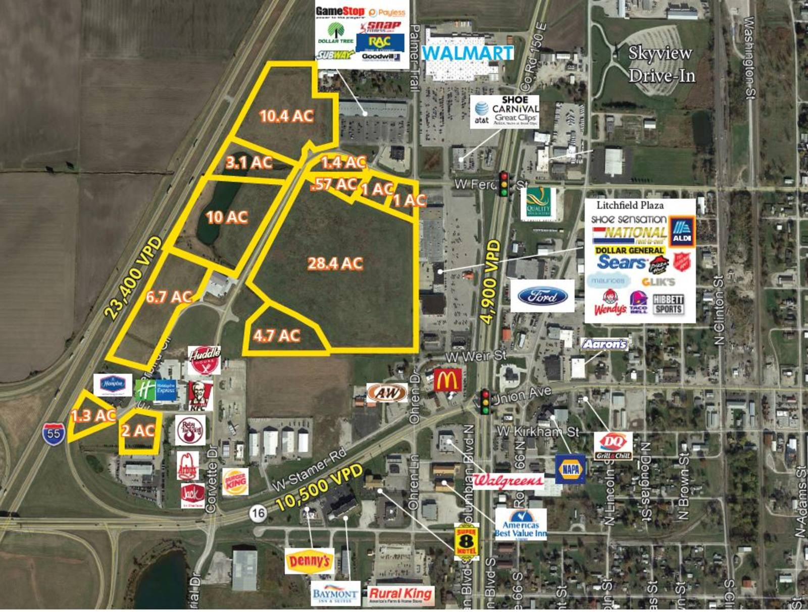 CBRE Retail52 Acres of Developable LandRoute 66 Crossing  Photo