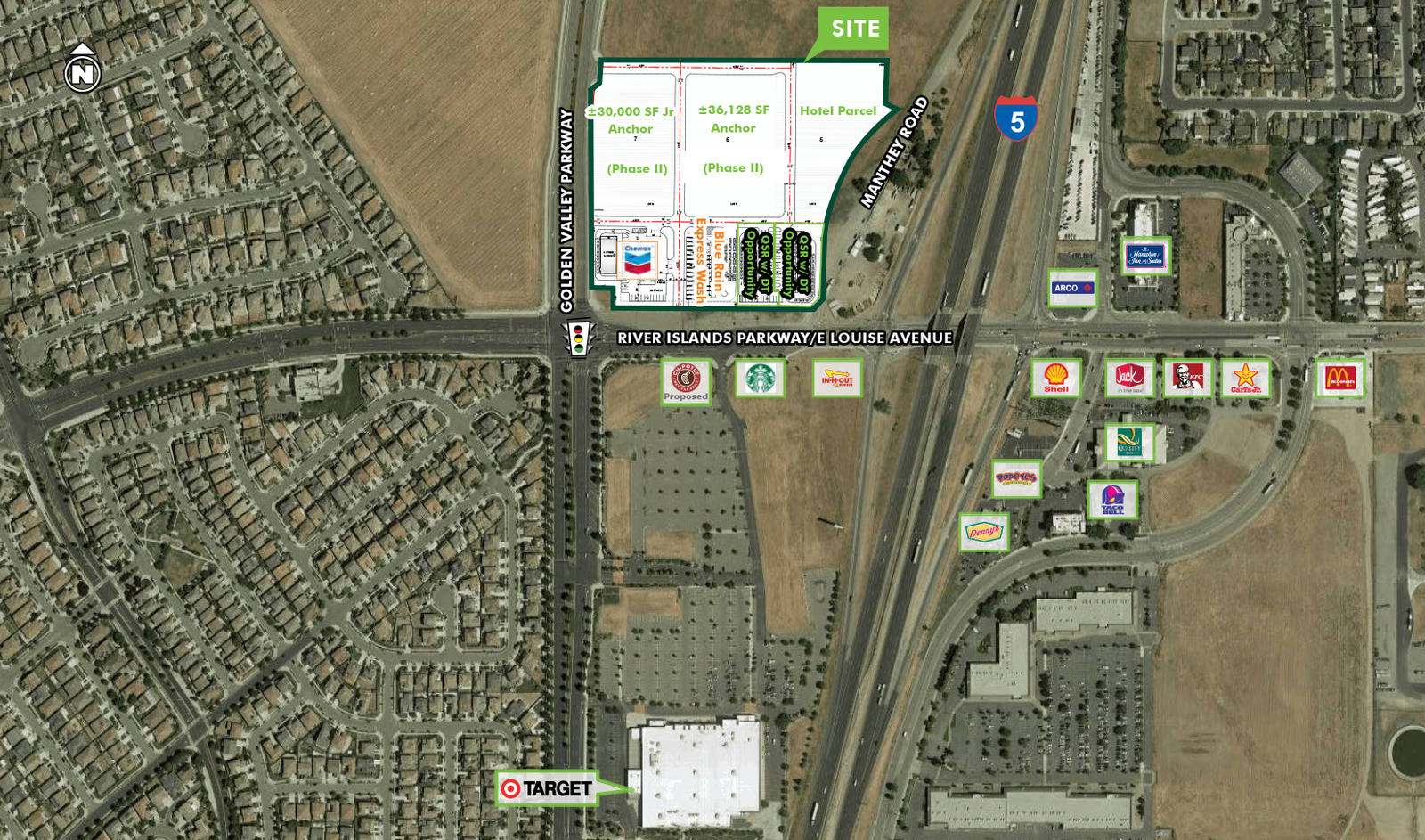 CBRE RetailHighway Commercial Pad - I-5 & LouiseSWQ I-5 & Louise Ave  Photo