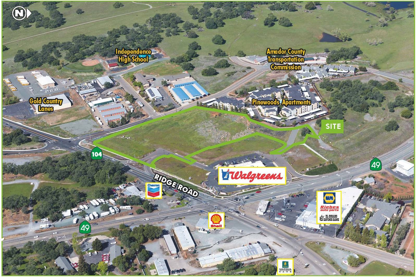 CBRE RetailHigh Identity Commercial Land - Sutter CreekNWQ Highway 49 & Ridge Road  Photo