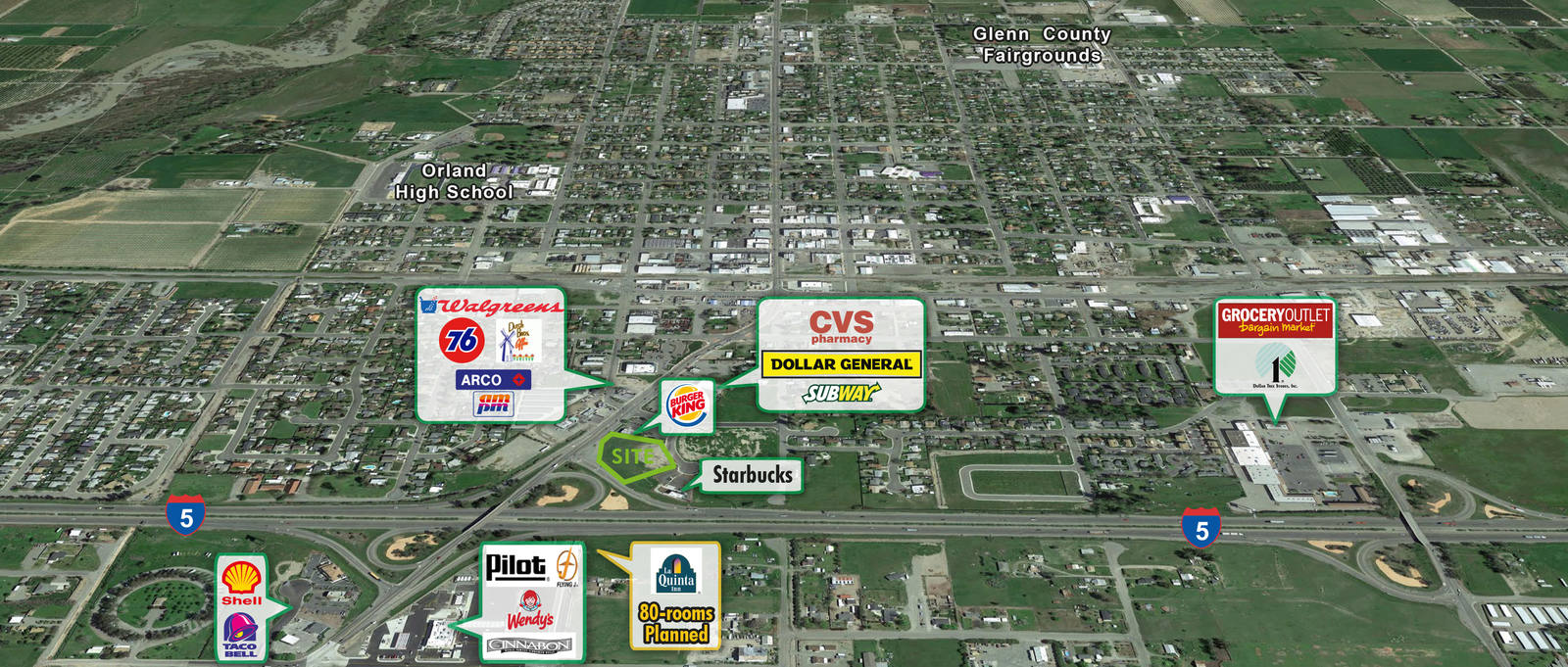 CBRE RetailHighway Commercial Land - I5 & Hwy 32SEQ Interstate 5 & Highway 32  Photo