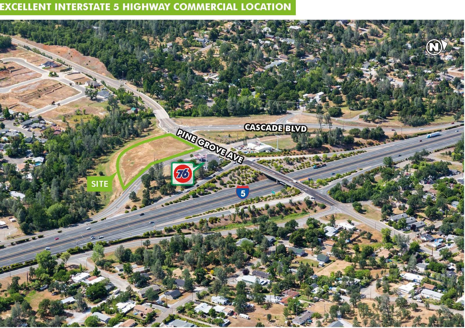 CBRE RetailShasta Lake LandSWQ Interstate 5 & Pine Grove Avenue  Photo
