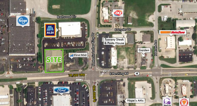 CBRE Retail0.73 Acre Lot450 East Pershing Road  Photo