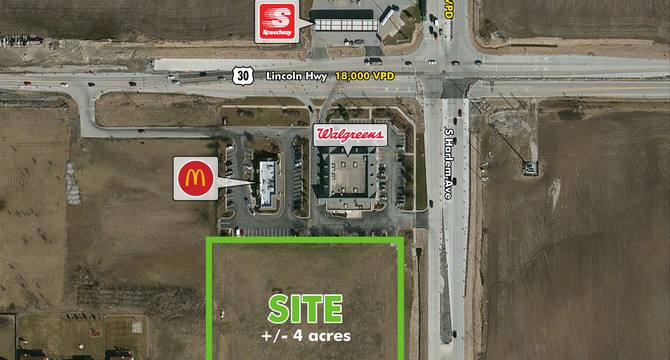 CBRE Retail±4 Acres AvailableRoute 30 & Harlem Avenue  Photo