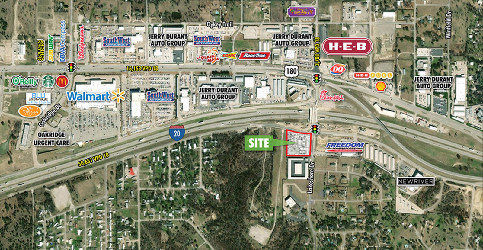 CBRE Retail2.8-Acre Hudson Oaks, TX Pad SiteSWC Lakeshore Dr & I-20  Photo